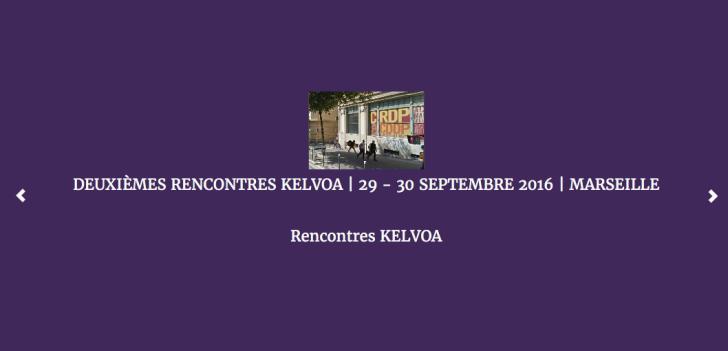 Deuxièmes rencontres Kelvoa à Marseille - 2016