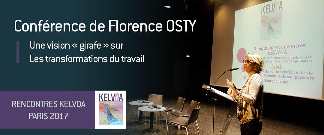 Conférence de Florence OSTY sur les transformations du travail